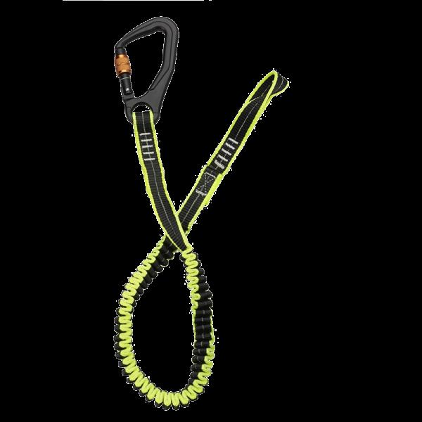 Veiligheidslijn 1-schroefhaak 1-1,5 mtr elastisch